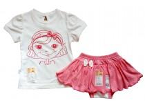 Комплект для девочки, футболка с юбкой