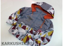 Куртка-ветровка, плащевка, флис