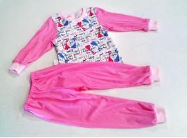 Пижама тонкая, комбинированная, манжет