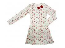 Платье с бантиком, интерлок, р.128