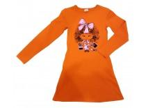 Платье оранжевое, интерлок, р.122