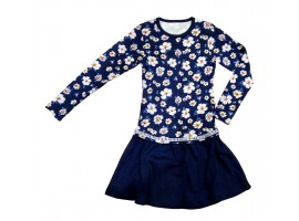 Платье синее, интерлок