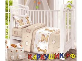 Комплект постельного белья, хлопок 100%, бежевый