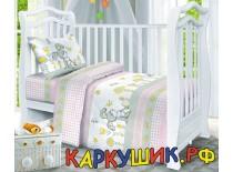 Комплект постельного белья, хлопок 100%, розовый